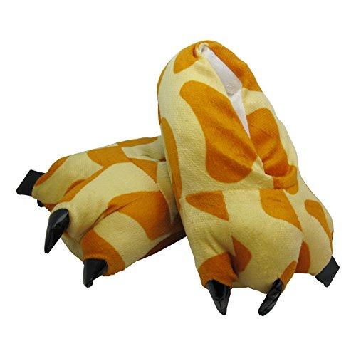 Plüsch Tier Hausschuhe für Kinder und Erwachsene - Kralle Tatze - Mehrere Tierarzen und Großen zum Auswahl Giraffe