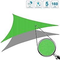 Cool Area Toldo vela rectángulo 4 x 5 metros protección UV Impermeable, Color tierra