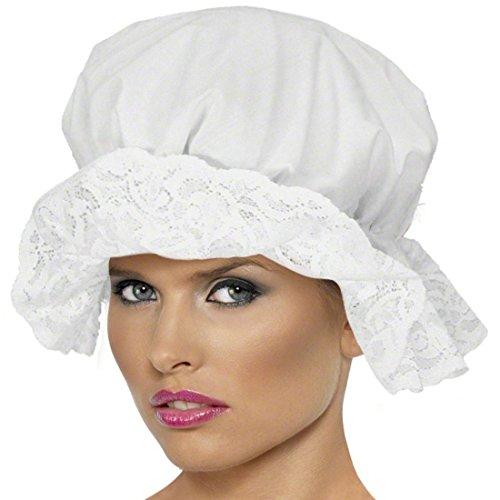 Mittelalterliche Haube (Mittelalter Haube Schlafhaube Weiß Nachthaube Mittelalterliche Haube Magdhaube Bäuerin Magd Hut)