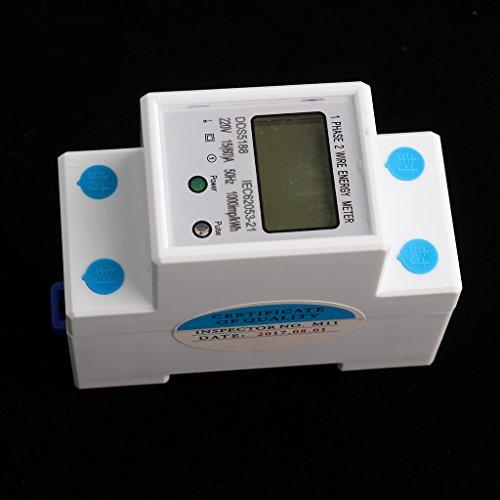 Gazechimp Digitaler DIN-Hutschiene Stromzähler Energiezähler - 15 (60) A