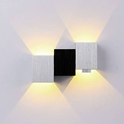 BEIYI 6W Day White Warm White 2 LED Wall Light Up Down Lamp Sconce Mirror Spot lights