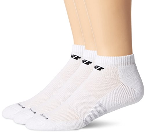 New Balance Mens 3 Pack Core Cotton Low Cut Socks white