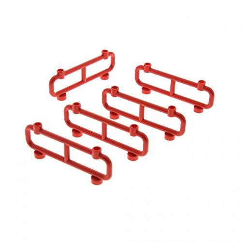 5 x Lego System Zaun rot 1 x 8 x 2 Gatter Zäune Absperrung Geländer 2486