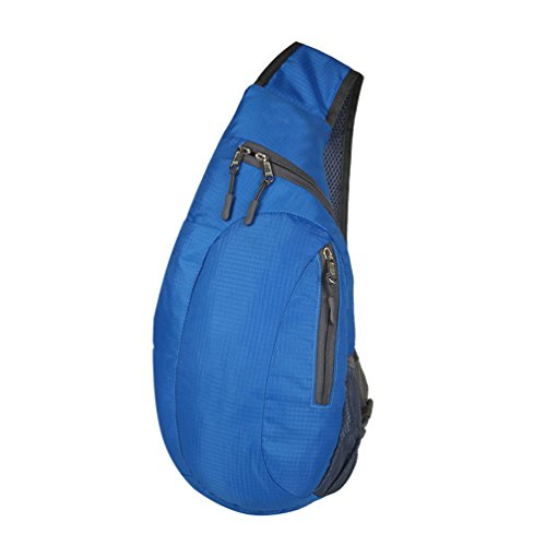 Vbiger Nylon Umhängetasche Multifunktionale Brusttasche Lässige Cross-Body Brusttasche für Männer und Frauen Blau