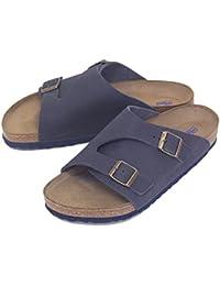 BIRKENSTOCK Unisex Schuhe Damen und Herren Arizona SFB Edle Sandale Aus Hochwertigem Leder, Weiches Soft-Footbed, Clog, Beige (Taube), EU 38, Normal