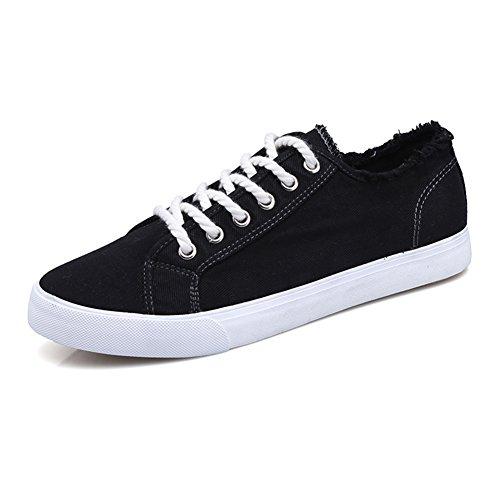 Young & Ming Herren Sneakers, Bequeme Sportschuhe für Herren Low Top Turnschuh Textil Schuhe