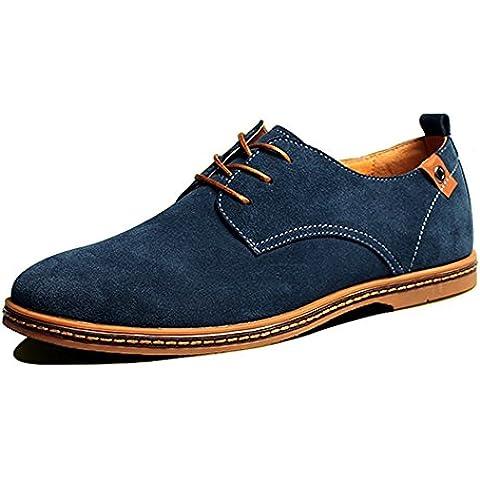 SITAILE Zapatos de gamuza de cuero de estilo europeo oxfords de los hombres casuales