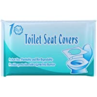 iEFiEL Bio-degradable Sanitary Toilet Seat Covers Travel Pocket Size Wrapped Antibacterial Supplies for Bathroom Public Restroom Hotel 1 Pack One Size