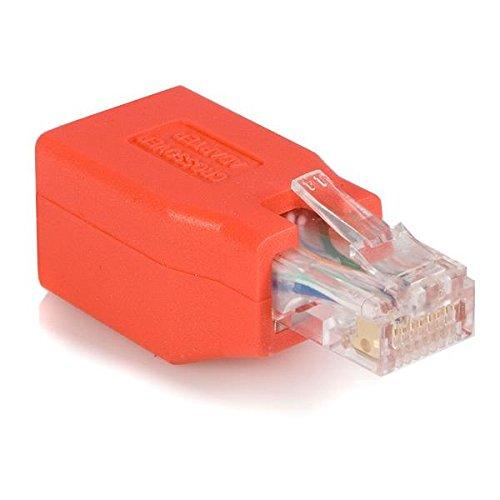 Männliche Ethernet-rj-45-kabel (StarTech. com-Adapter CAT6Ethernet Netzwerkkabel direkt geradeaus Straight Crossover Crossover UTP Patch RJ45Adapter für Kabel (RJ-45, RJ-45, Männlich/Weiblich, Rot, 1,5cm, 4,5cm)
