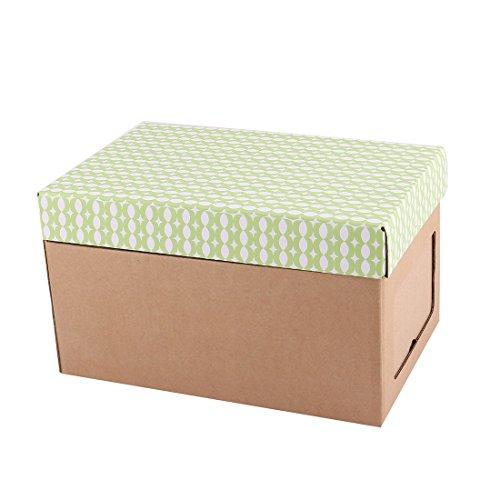 sourcingmap® Famille Paper Bricolage Porte-vêtements Chaussettes Courtepointe Boîte stockage conteneurs