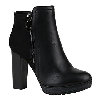 Damen Schuhe 144351 Stiefeletten Schwarz Zipper Autol 36 Flandell