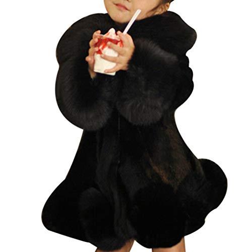 XWBO Baby Mädchen Faux Pelz MantelLuxus Wintermantel Winterjacke Warm Kunstpelz Jacke Parka Fleecejacke Outwear