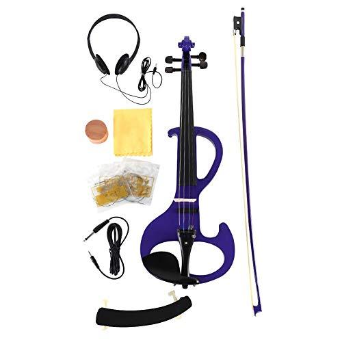 RiToEasysports Violino, Violino Elettrico 4/4 Full Size con Custodia Strumento Musicale a Prua