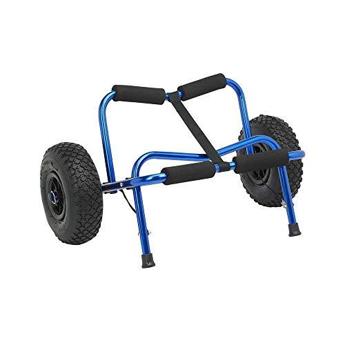 Palm Kajak oder Kajakfahren - Big Caddy - Hochleistungs-Kajak-Trolley Blau - Aluminium in eloxiertem Aluminium