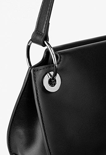 BREE Cordoba 6   Cross Shoulder Bag   zierliche Umhängetasche in Größe XS mit Magnetverschluss   black black