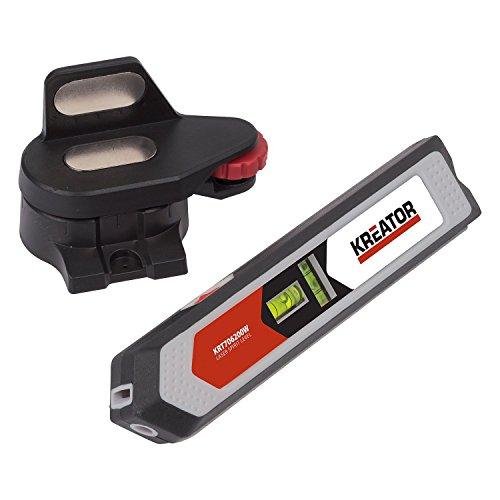 """KRT706200W Laser Wasserwaage 1/4"""" Stativaufnahme Laserwaage 165 mm + Wandhalterung"""