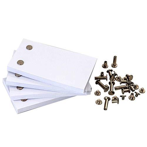 Deng Xuna Papier mit Löchern 240 Blatt Blank Flipbook Animation Paper Seiten für Nachfüllbar DIY Skizze Malerei Tagebuch Notizbuch Skizzenbuch Journal Einsätze, 4.5 Zoll x 2.5 Zoll (Weiß)