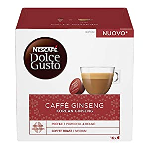 Nescafé Dolce Gusto Caffè al Ginseng, 6 Confezioni da 16 Capsule, 96 Capsule