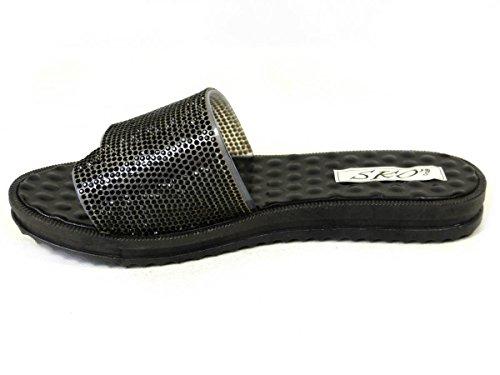 SKO'S, Infradito donna Black (YFH-0013)