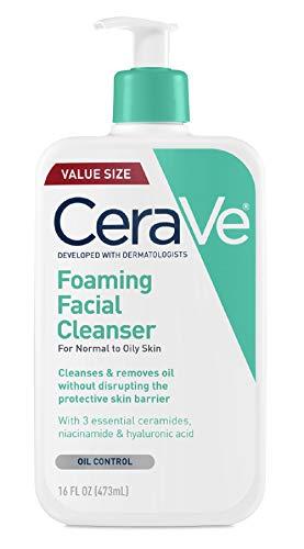 CeraVe Schäumende Gesichtsreinigung, 473 ml, für die tägliche Anwendung, normale bis ölige Haut. -