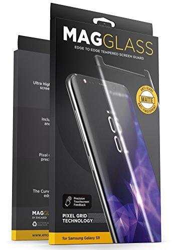 Samsung Galaxy S9 Displayschutzfolie, matt, gegen Fingerabdrücke, gehärtetes Glas, magglass xm90, entspiegelt, inkl. Präzisions- (Shine Leave Silk)