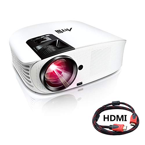 Artlii Proyector HD, Home Cinema Proyectores LED 3500 Lúmenes, Soporte 1080p Full...