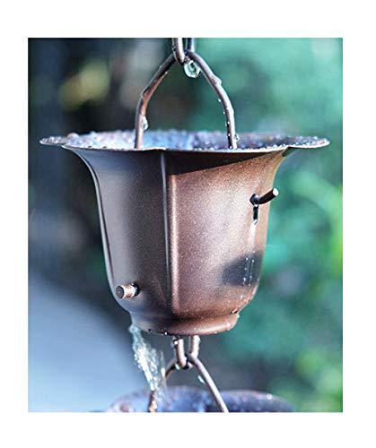 RegenKette zu cup Eisen für Dachrinnen ForHome® bronziert - Fähigkeit Drain 4,5/5 - Kompletter Kettensatz