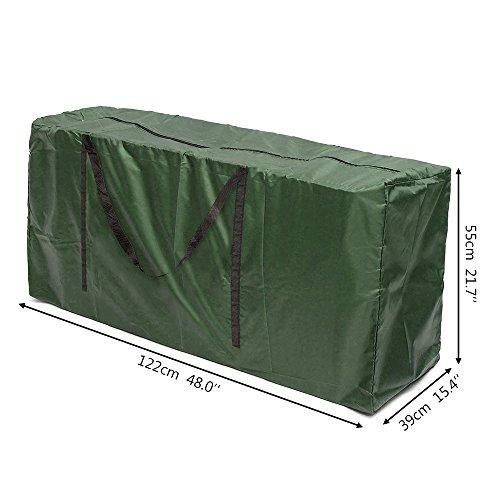 Iraza Tragetasche für Gartenauflagen Gartenmöbelauflagen Aufbewahrungstasche für Polsterauflagen Auflagen Kissen (122x55x39cm)