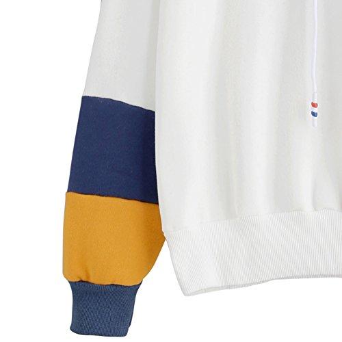 Yalatan Women Fashion Sweatshirt Long Sleeve Print Hoodie Sweatshirt Hooded Casual Pullover Tops Blouse navyblue