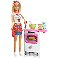 NEW Barbie Bakery Chef Doll and Playset Toy