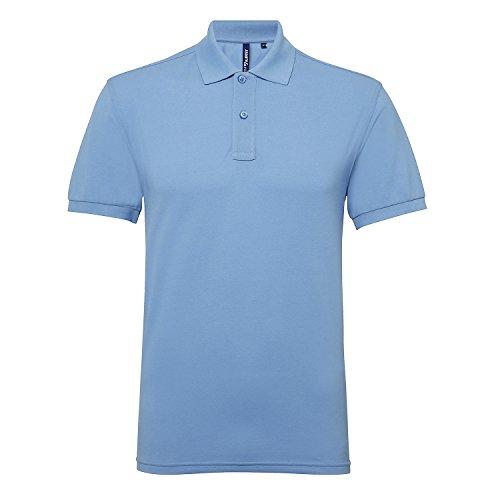 Asquith & Fox Herren Classic Fit Performance Blend Polo T-Shirt - 25 Farben erhä Kornblume