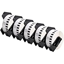 5er Set - Endlos-Etikett kompatibel zu Brothers DK-22210 | Thermopapier mit Kunststoffhalter / 29 mm x 30,48 m| einsetzbar in Brother P-Touch QL 500 Series / 500 / 500A / 500BS / 500BW / 550 / 560 Series / 560 / 560VP / 560YX / 570 / 580 Series / 580 / 580N / 650TD / 700 / 710W / 720NW / 1000 Series / 1050 / 1050N / 1060N