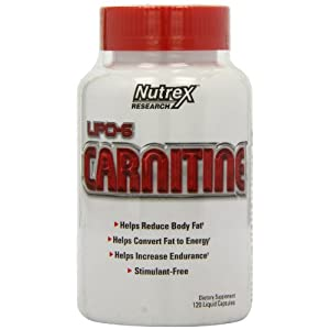 411NYxdmnhL. SS300  - Nutrex Research Lipo-6 Carnitine Standard Capsules, 120-Count