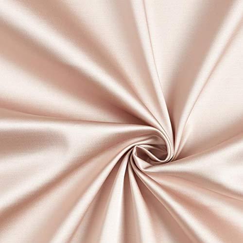Fabulous Fabrics Duchesse Satin Royal - Hellbeige - Meterware ab 0,5m - zum Nähen von Blazer, Hosen und Röcke Royal Polyester Satin