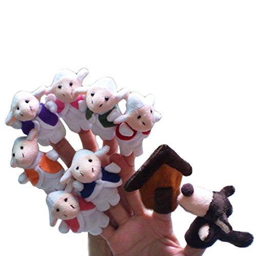 9 unds Marionetas dedo escenificar cuento oveja lobo