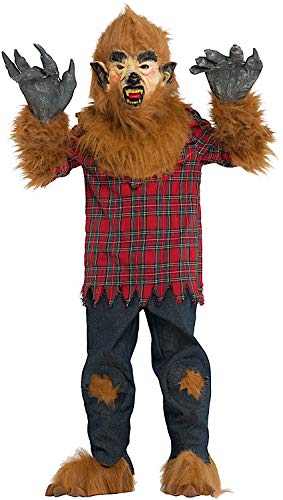 Costume di carnevale da ragazzo lupo vestito per ragazzo bambino 7-10 anni travestimento veneziano halloween cosplay festa party 53146 taglia 7/s