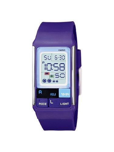 Casio - Vintage - LDF-52-6AEF - Montre Mixte - Quartz Digital - Cadran Violet - Bracelet Résine Violet