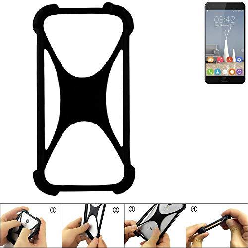 K-S-Trade Handyhülle für Oukitel K6000 Plus Schutz Hülle Silikon Bumper Cover Case Silikoncase TPU Softcase Schutzhülle Smartphone Stoßschutz, schwarz (1x)