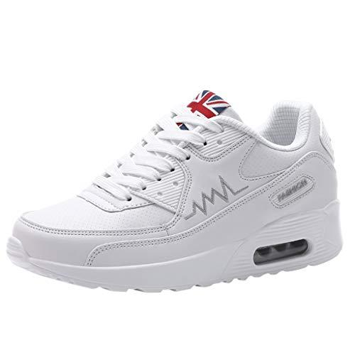 c7747df53ba10 Jodier Zapatillas de Deporte con Cojines de Aire Calzado de Running para  Estudiante Volar Zapatos Zapatillas Deportivas de Mujer Gimnasia Sneakers  Zapatos ...