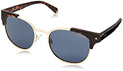 Polaroid Polarized Browline/Clubmaster Unisex Sunglasses - (PLD 6040/S/X 086 52C3|52|Blue Color)