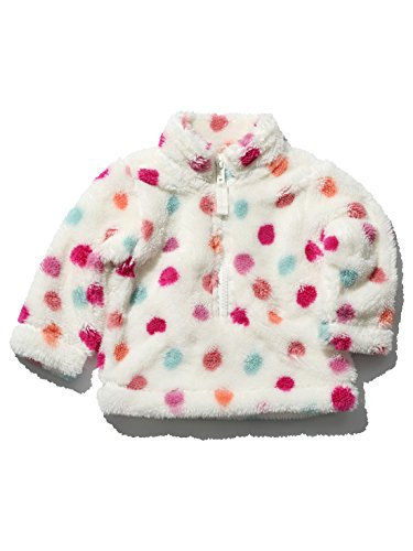 mco-baby-girls-long-sleeve-funnel-neck-colourful-spot-pattern-sherpa-fleece-sweater-cream-12-18-mnth