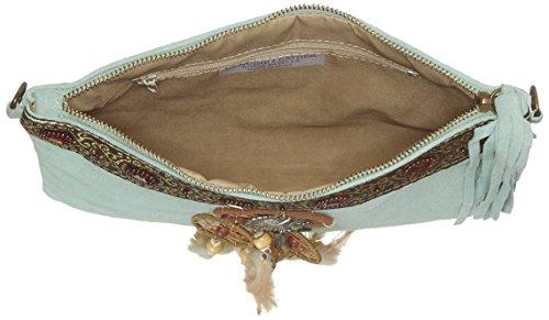 Chicca Borse 1525, Borsa a Spalla Donna, 30x22x2 cm (W x H x L) Turchese (Marina)