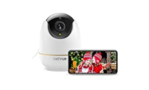 NETVUE Home Security Camera, Work with Alexa Echo show 360 degree View, Wireless IP Camera with Motion Detection P/T/Z, TF Card Record, 2 Way Audio and 1080P HD Night Vision, Baby Monitor, Pet Camera