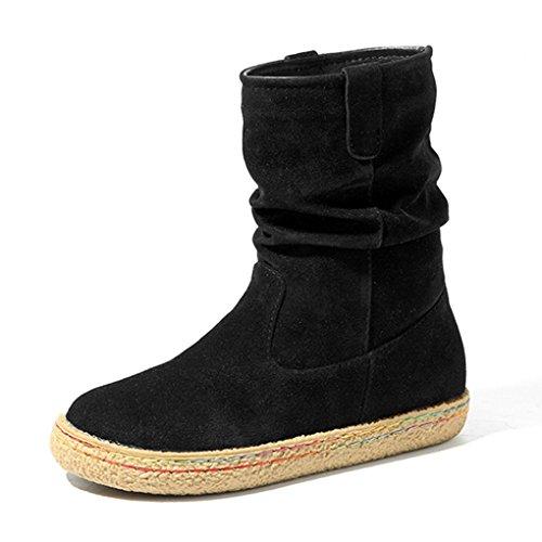 Jintime , Chaussures de ville à lacets pour femme Noir