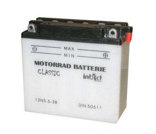 12V 5,5Ah Motorrad Batterie 12N5.5-3B für Yamaha RD 250 350 500, YZF-R 125