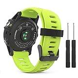 Compatibilità: Progettato su misura per il vostro preziosoGarmin Fenix 3 / Fenix 3 HR / Fenix 5x Smart Watch, questo MoKo Garmin Watch cinturino con Garmin Watch Lug presenta una combinazione di funzionalità e stile. Descrizione del prodotto:...