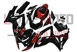 LoveMoto Verkleidung für GSX-R600 GSX-R750 K6 2006 2007 06 07 GSXR 600 750 ABS Spritzguss Kunststoff-Motorradverkleidung-Sets Schwarz Rot