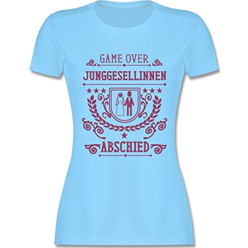 JGA Junggesellinnenabschied - Game Over - Junggesellinnenabschied - tailliertes Premium T-Shirt mit Rundhalsausschnitt für Damen Hellblau
