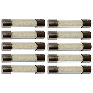 Aerzetix: 10 verzögert zeitlich träge Sicherungen Glas 6.3x32mm 220V 250V 5A