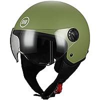 BHR 33450 Casco Demi-Jet, verde mate, M (57/58 cm